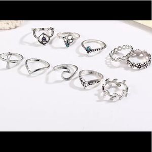 10 pc Boho Midi Ring Set
